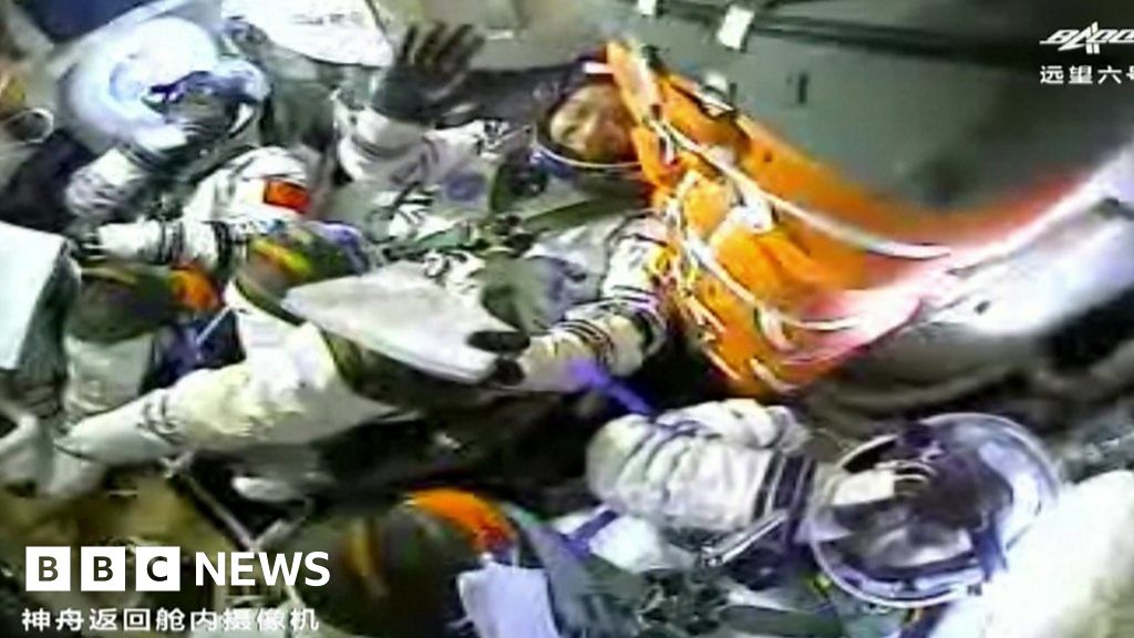 Shenzhou-12: Chinese astronauts dock with the new space station