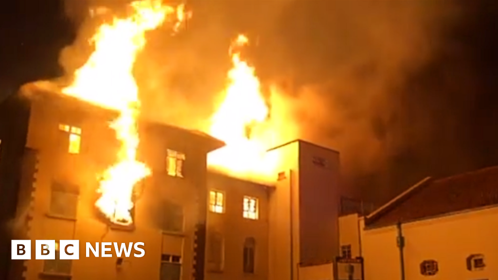 Uganda Makerere University fire: 'Ivory Tower' gutted
