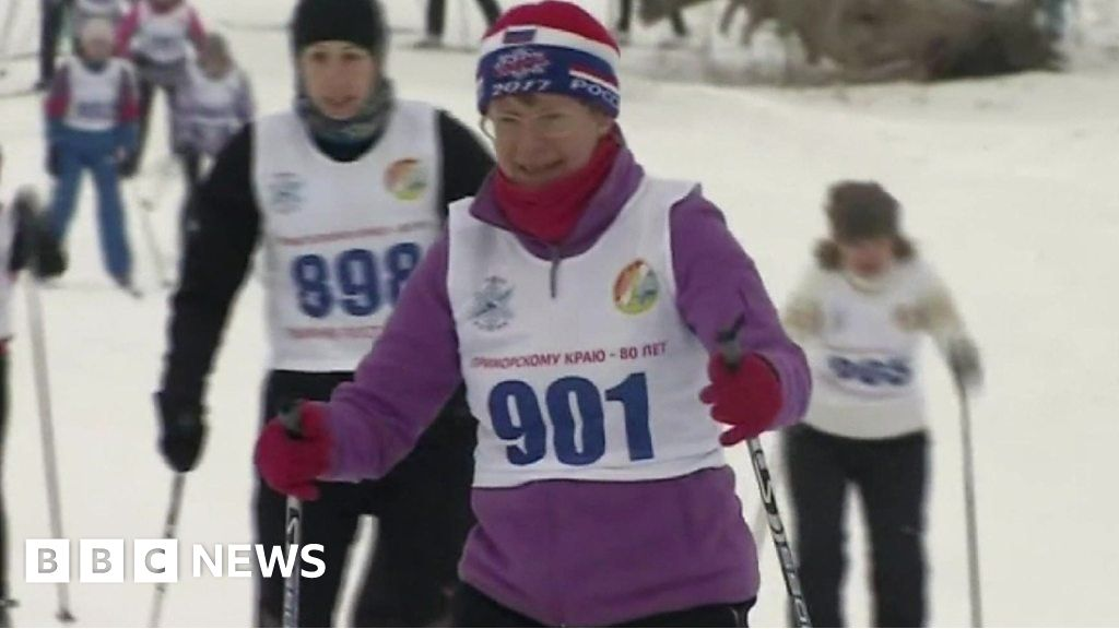 Russian skiers support banned Olympic athletes
