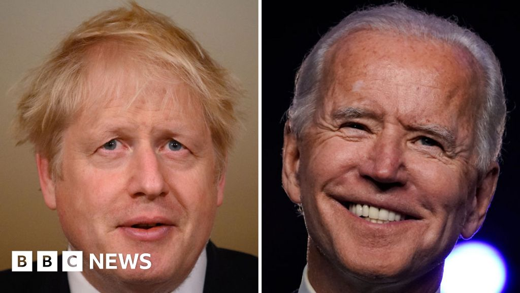 US election: Johnson vows to defend 'common values' with Joe Biden