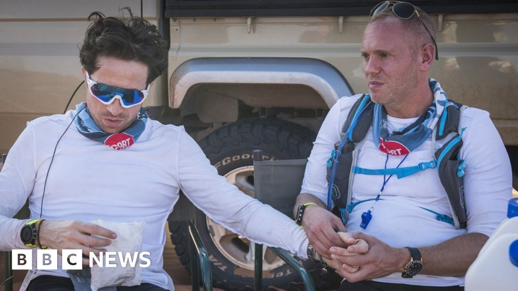 Sport Relief, Nick Grimshaw, exhausted, back to slump because of the heat