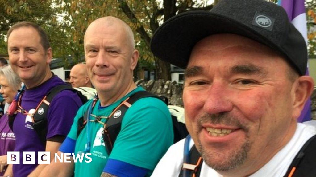 Three dads cross finish line on £400k suicide awareness walk