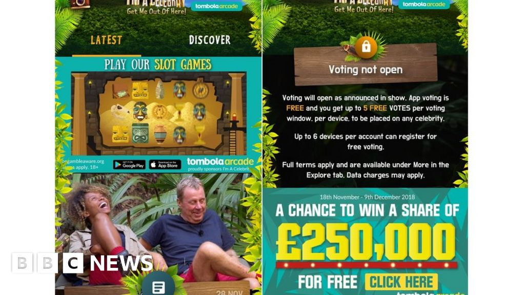 I'm A Celebrity app's gambling ads criticised