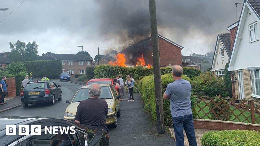 Huddersfield van explosion outside house leaves man injured thumbnail