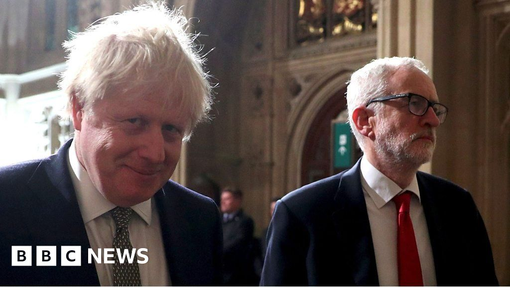 Queen s Speech: Johnson and Corbyn in tense walk to the House of Lords