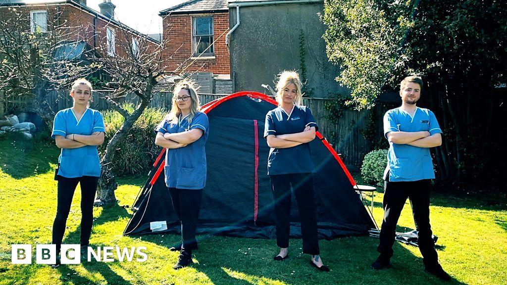 Coronavirus: Isle-of-Wight-care worker living in tents