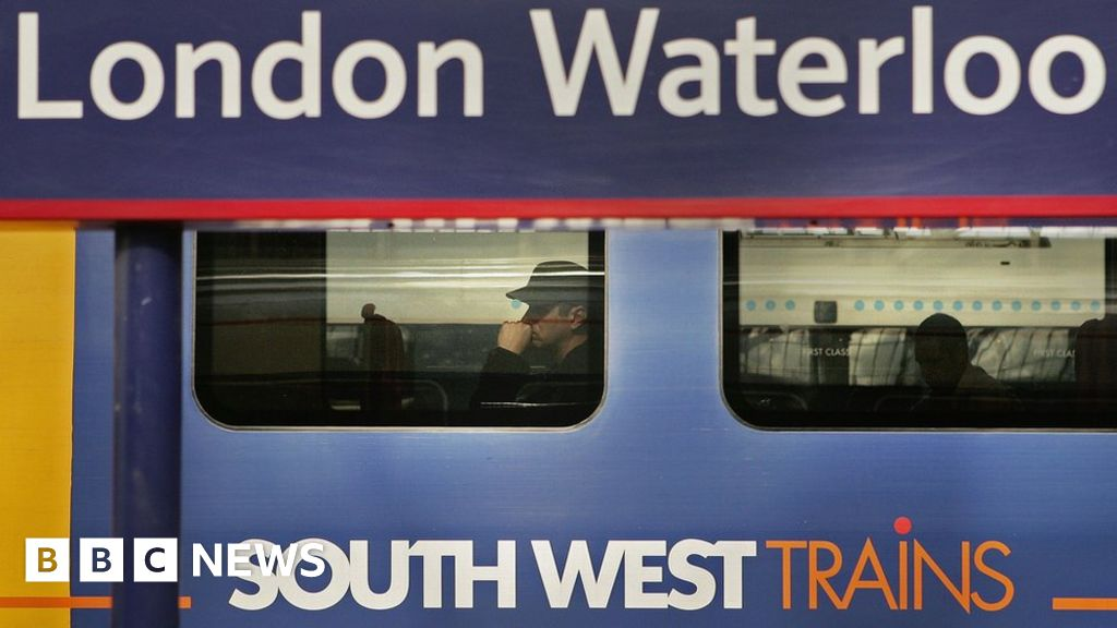 South West train and passenger