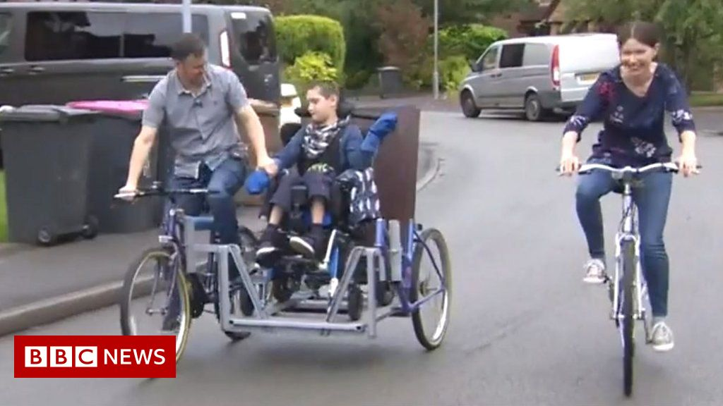 Sidecar trips for disabled boy