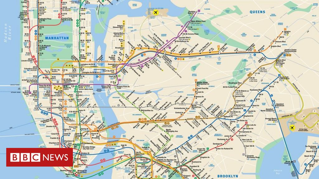 Creator Of New York City Subway Map Michael Hertz Dies Bbc News