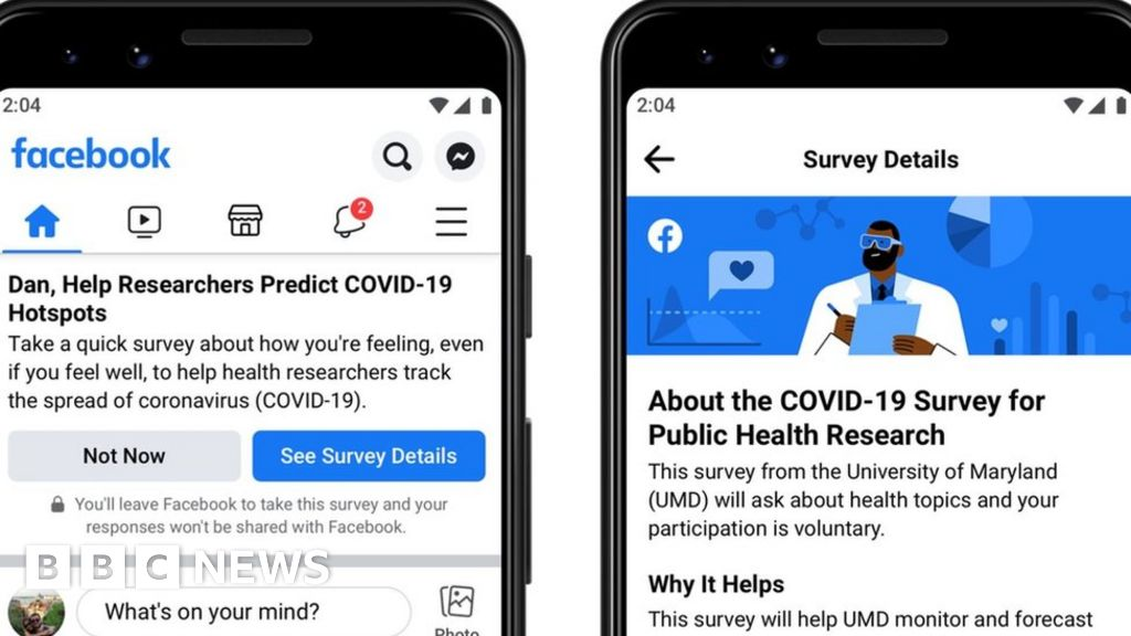 Coronavirus: Facebook launches UK Covid-19 symptom-survey