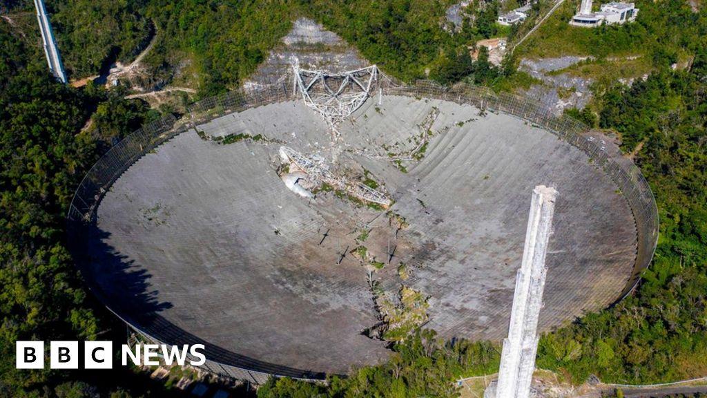 Puerto Rico: Iconic Arecibo Observatory telescope collapses