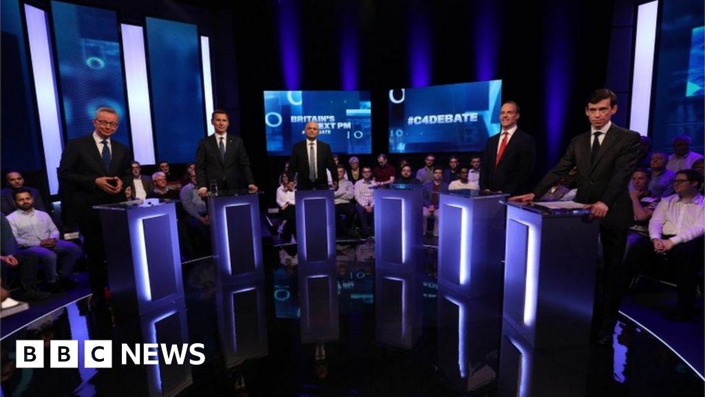 Tory leader hopefuls take part in TV debate