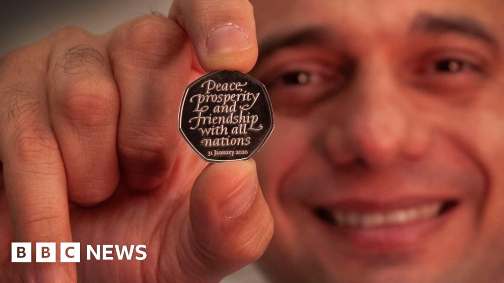 Brexit day 50p coin unveiled by Chancellor Sajid Javid thumbnail