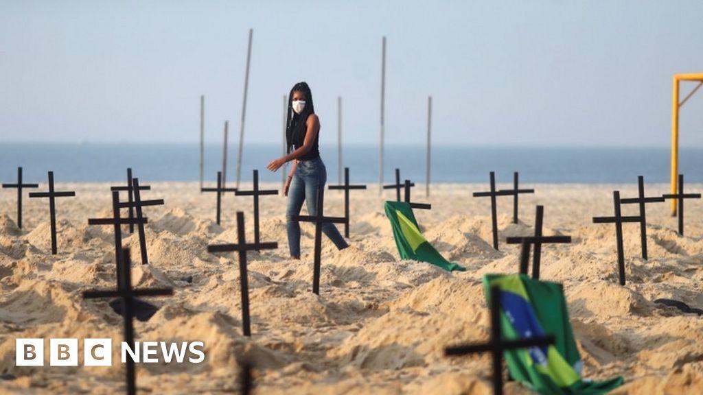 Coronavirus: turmoil at Brazil s Copacabana beach on Covid-19  graves