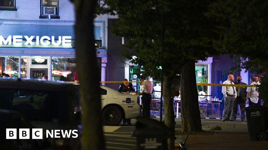bbc.co.uk - Shooting rocks restaurant not far from White House - BBC News