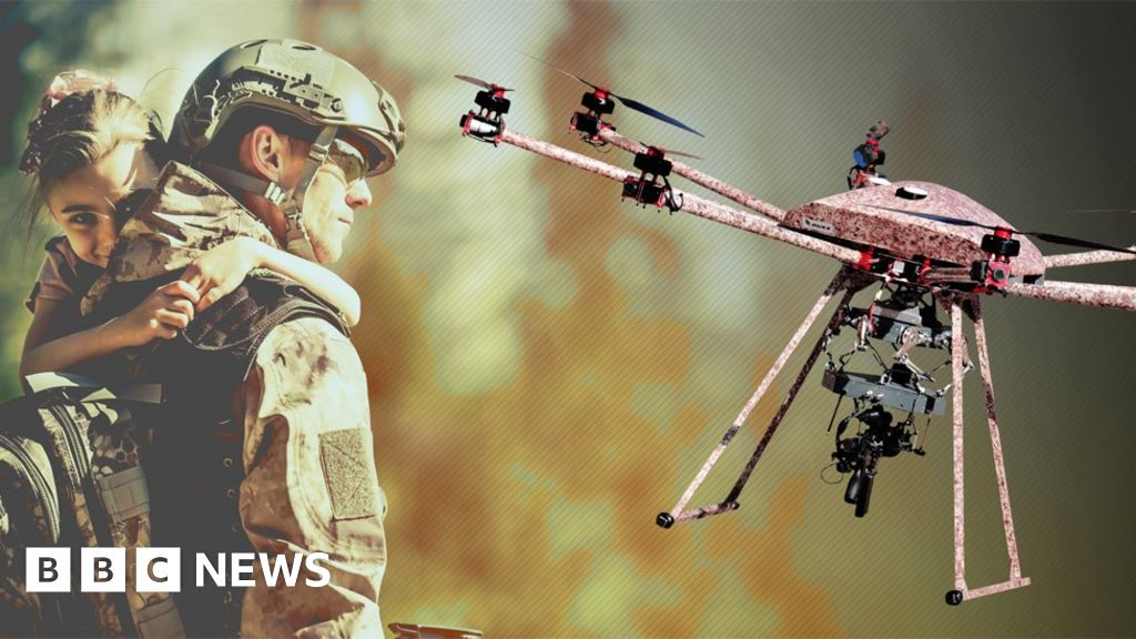 US firm reveals gun-toting drone that can fire in mid-air - BBC News