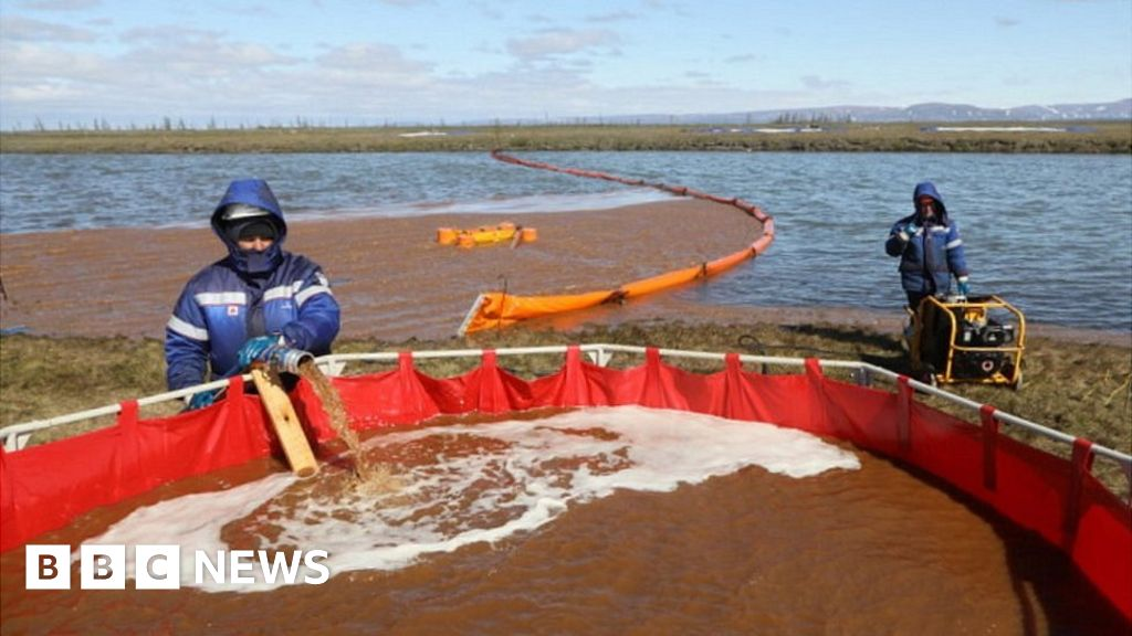 Russian Arctic oil spill contaminated large lake in the vicinity of Norilsk