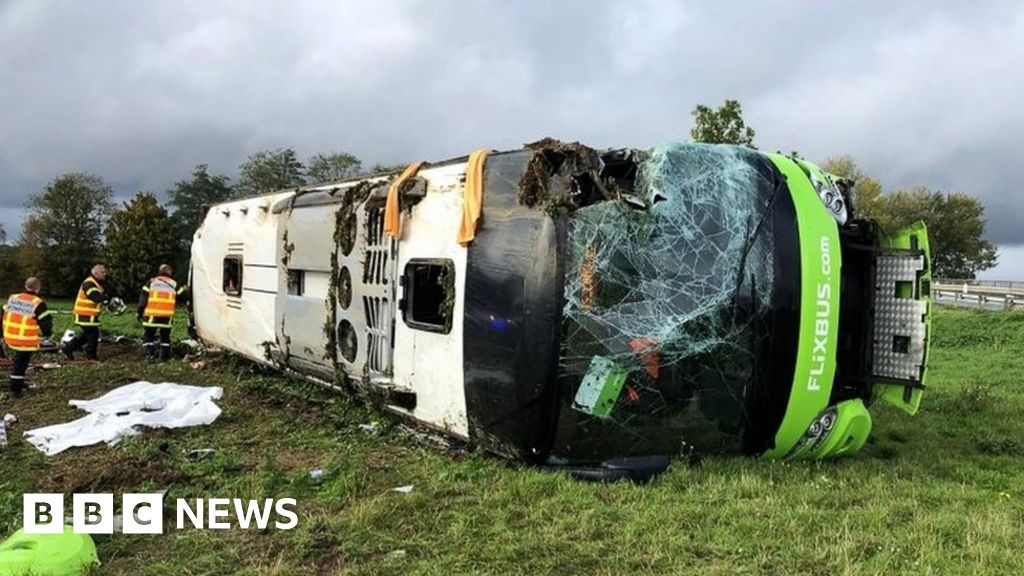 Britons among 33 hurt in bus crash in France
