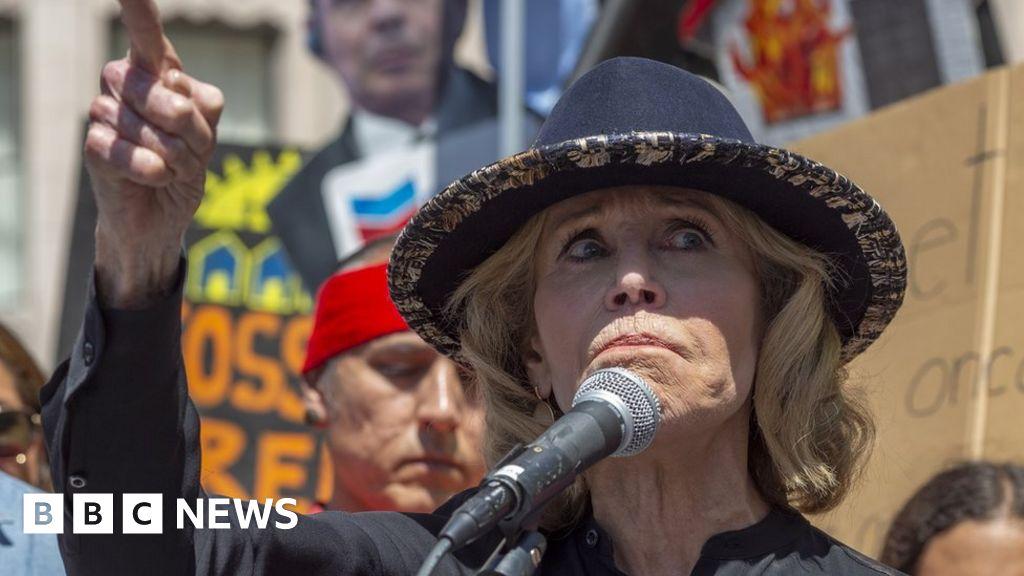 Jane Fonda arrested at Washington climate protest