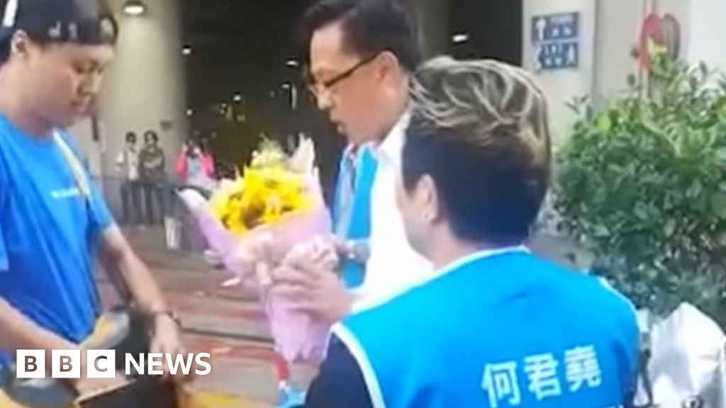 Pro-Beijing lawmaker stabbed by 'fake fan' in HK
