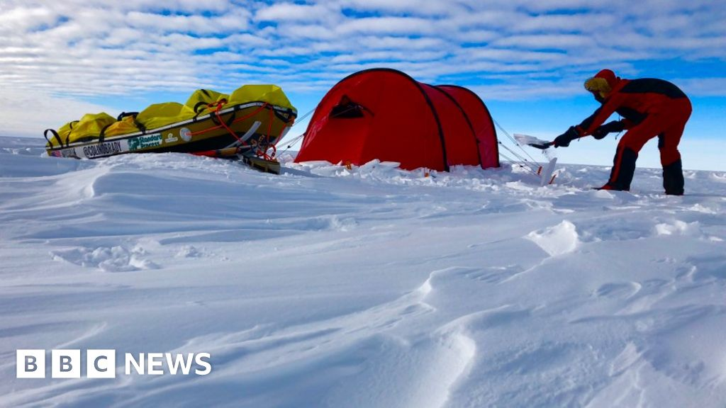 US man finishes solo race across Antarctica