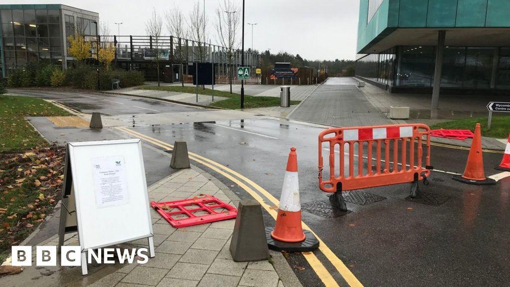 Wycombe Leisure Centre car park closes when rain forecast - BBC News