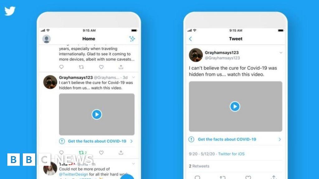 Coronavirus: Twitter will label Covid-19 fake news thumbnail