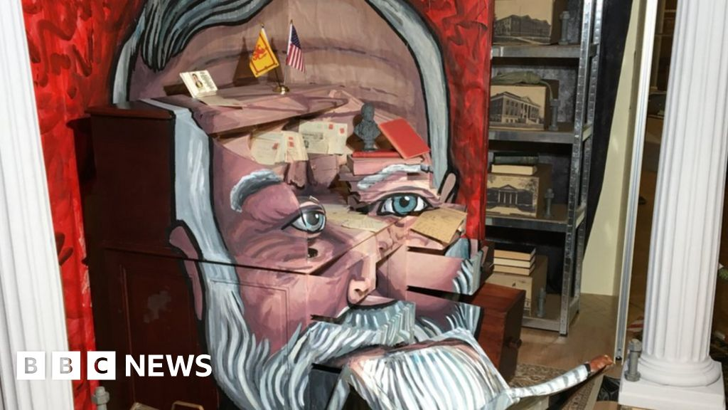 Artist using 3D installation to create Andrew Carnegie portrait thumbnail