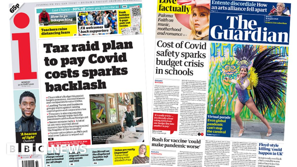The Papers: Tax rises 'backlash', and schools' budget 'crisis'