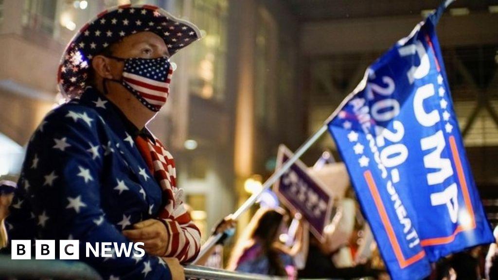 US Election 2020: Trump alleges 'shenanigans' as Biden urges calm
