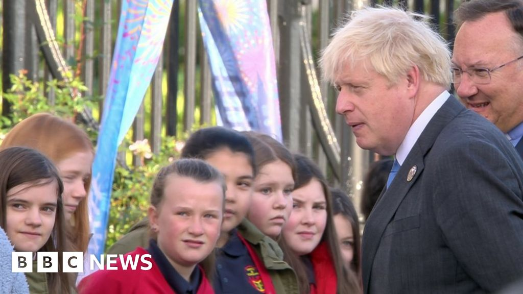 NI 100: Boris Johnson attends Armagh service to mark centenary
