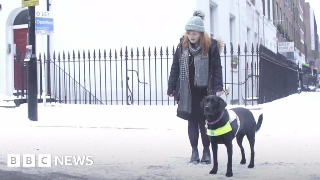 Lucy Edwards Is Blind And Dreads The Snow Bbc News