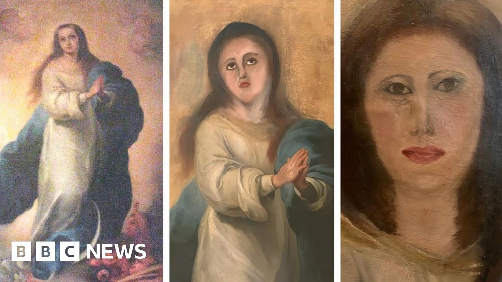 Spanish Baroque painting botched by amateur restoration thumbnail
