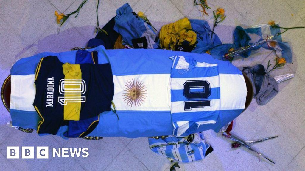 Maradona: Funeral worker apologises over coffin photos