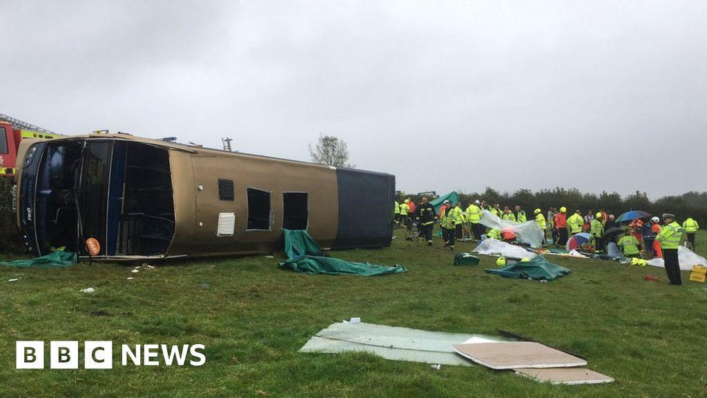 Totnes-bus crash: passengers injured as double-Decker overturned