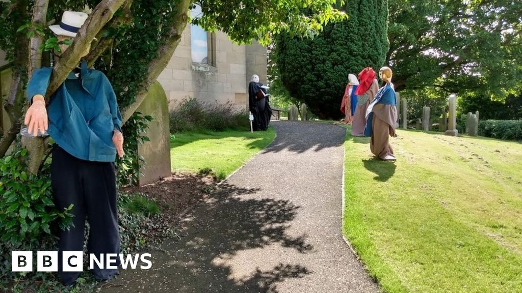 Scarecrows take over Northumberland village