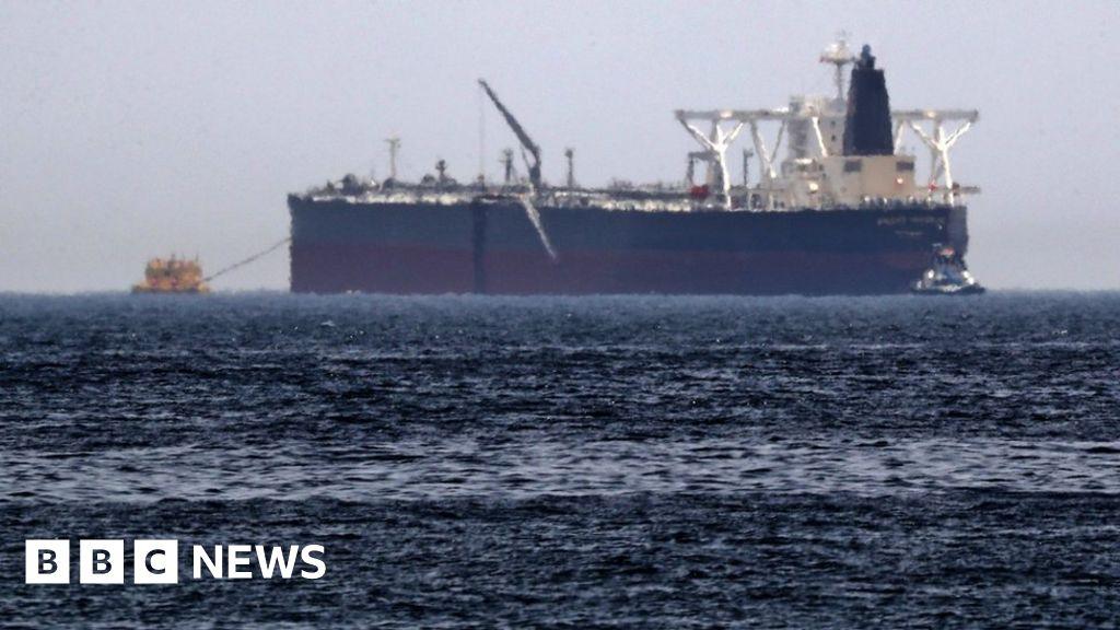 Iranian tanker 'on fire off Saudi coast'