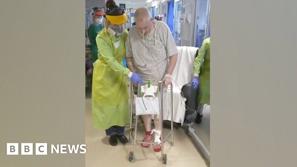 Coronavirus: Royal Papworth Hospital patient walks after 54 days