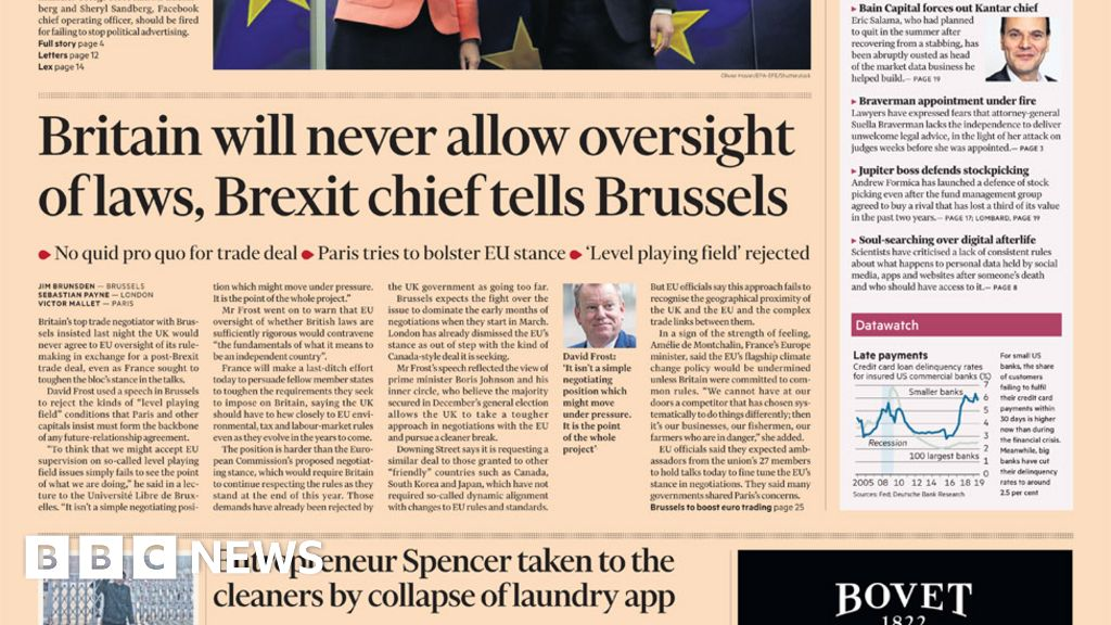 Headlines: Brexit-commercial speech, and No 10 adviser resigns