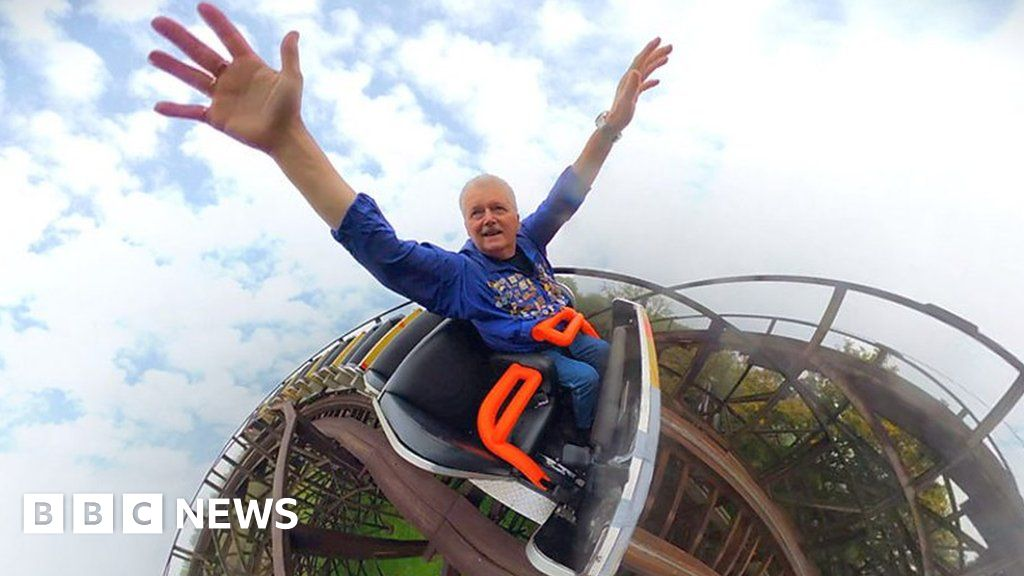 Covid: Rollercoaster fan takes 6,000th ride after pandemic delays