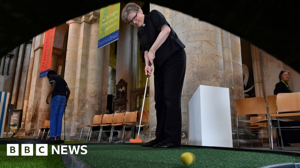 Why are cathedrals hosting helter-skelters and golf courses?