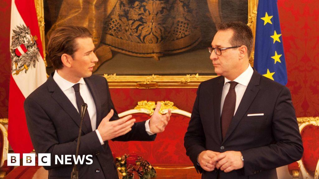 Austrian far-right joins coalition led by PM Sebastian Kurz - BBC News