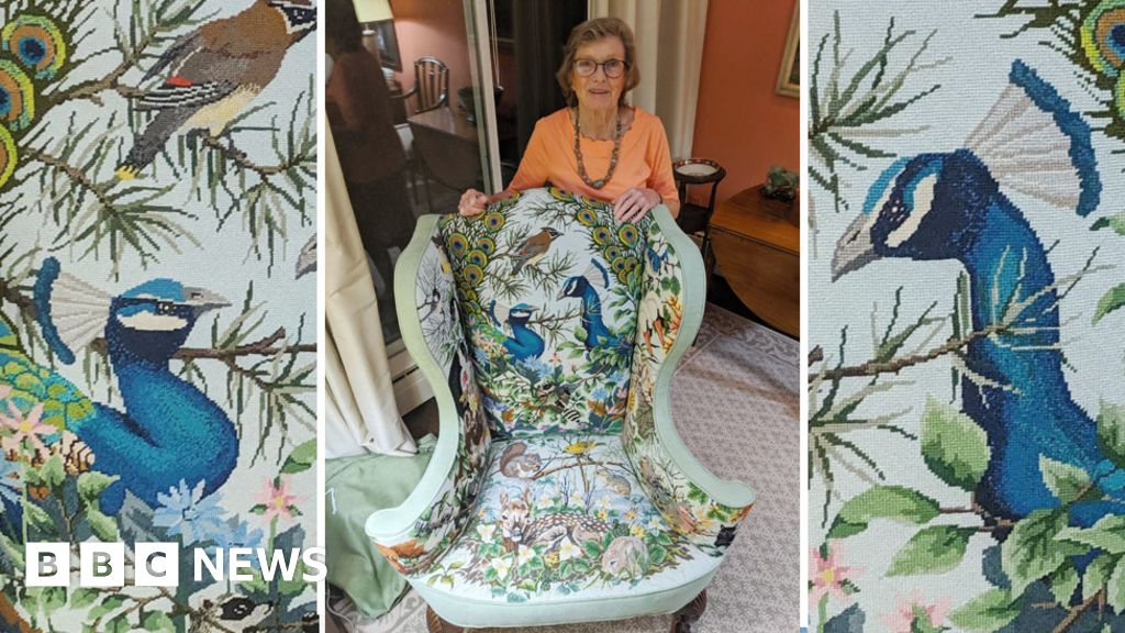 This gran picked up roadkill to create the perfect chair