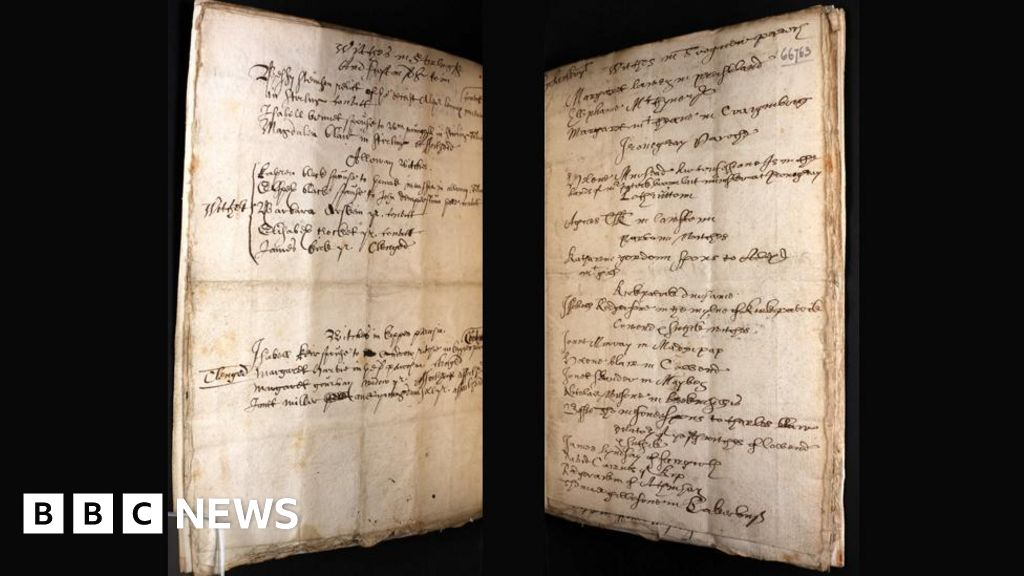 Scottish witchcraft book published online - BBC News