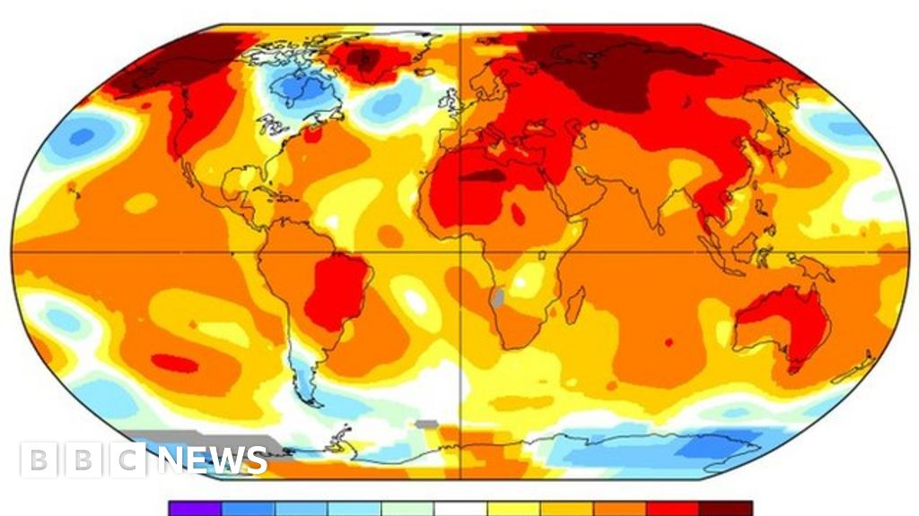 April breaks global temperature record - BBC News