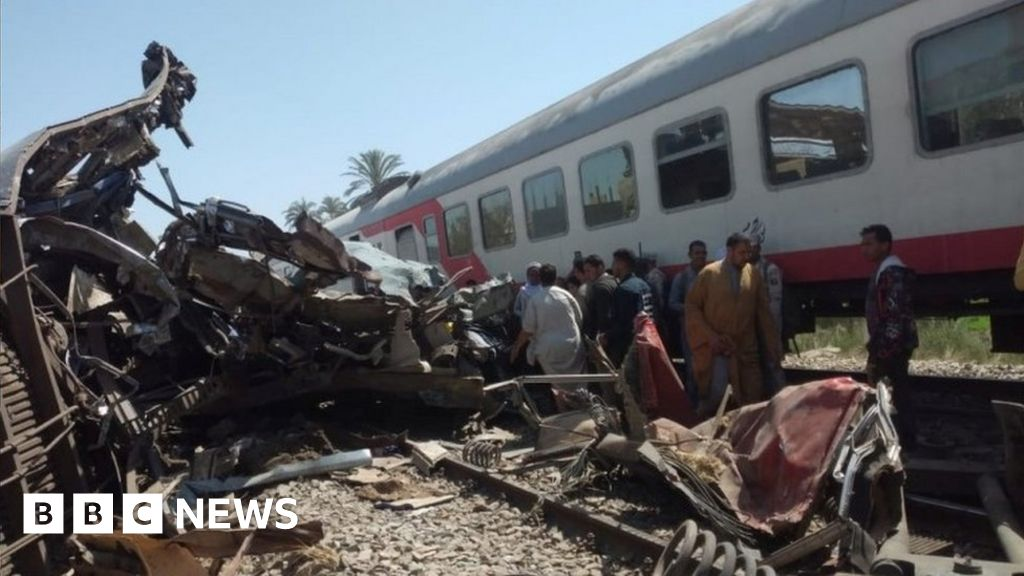 At least 32 people died in a train accident in Egypt