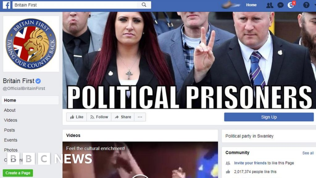 Facebook bans Britain First pages