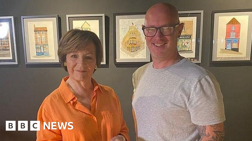 Delia Smith buys Nick Chinnery's Norwich paintings series