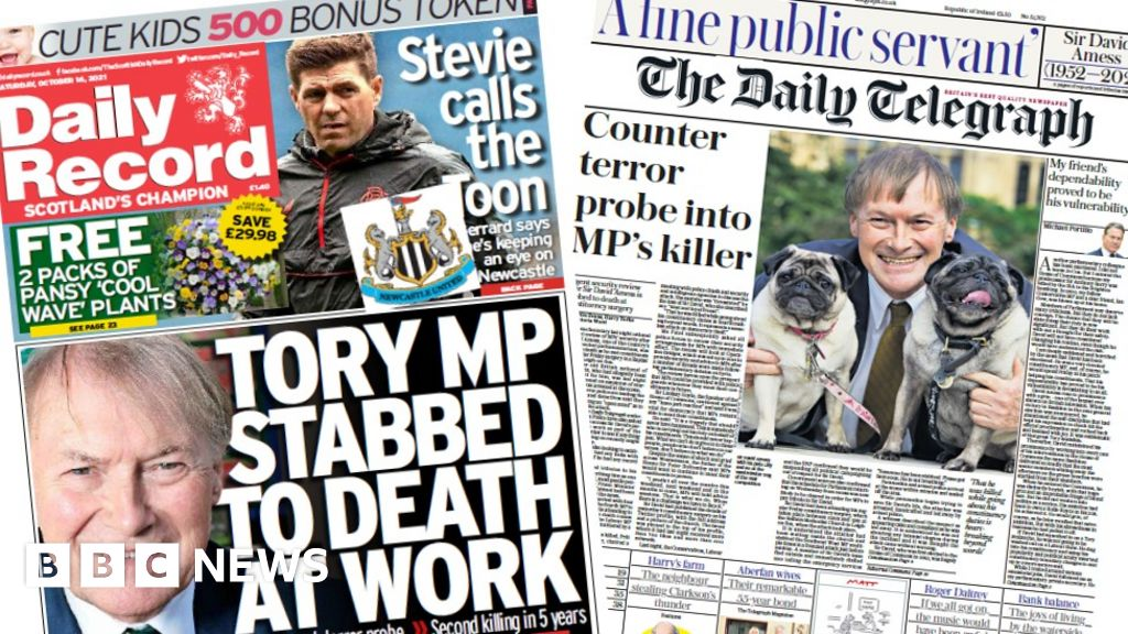 Scotland's papers: MP safety review and terror probe into death