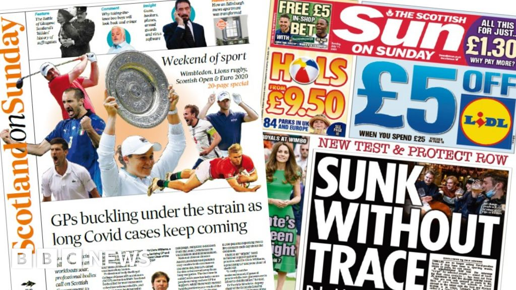 Scotland's papers: GPs 'cannot cope' and new track and trace row
